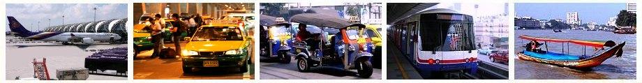 Bangkok Verkehr - Flughafentransfer