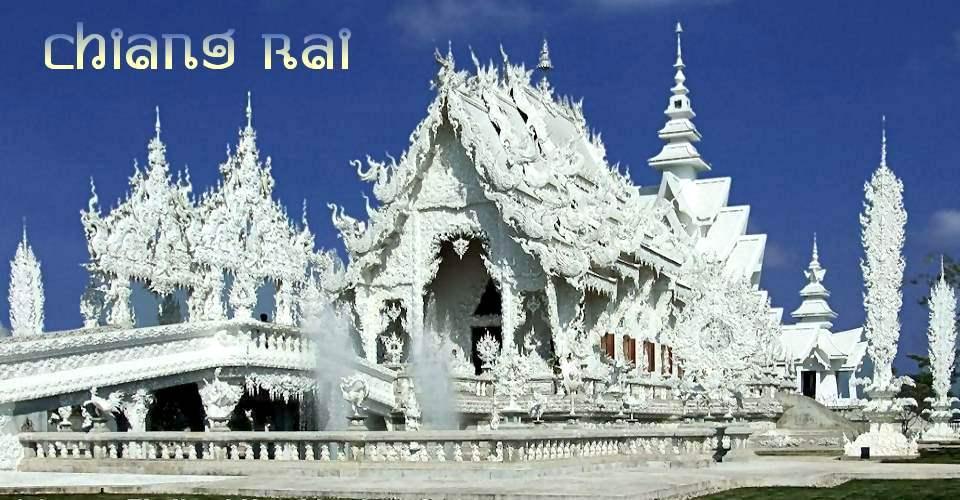 Bild: Wat Rong Khun bei Chiang Rai  (Nordthailand)
