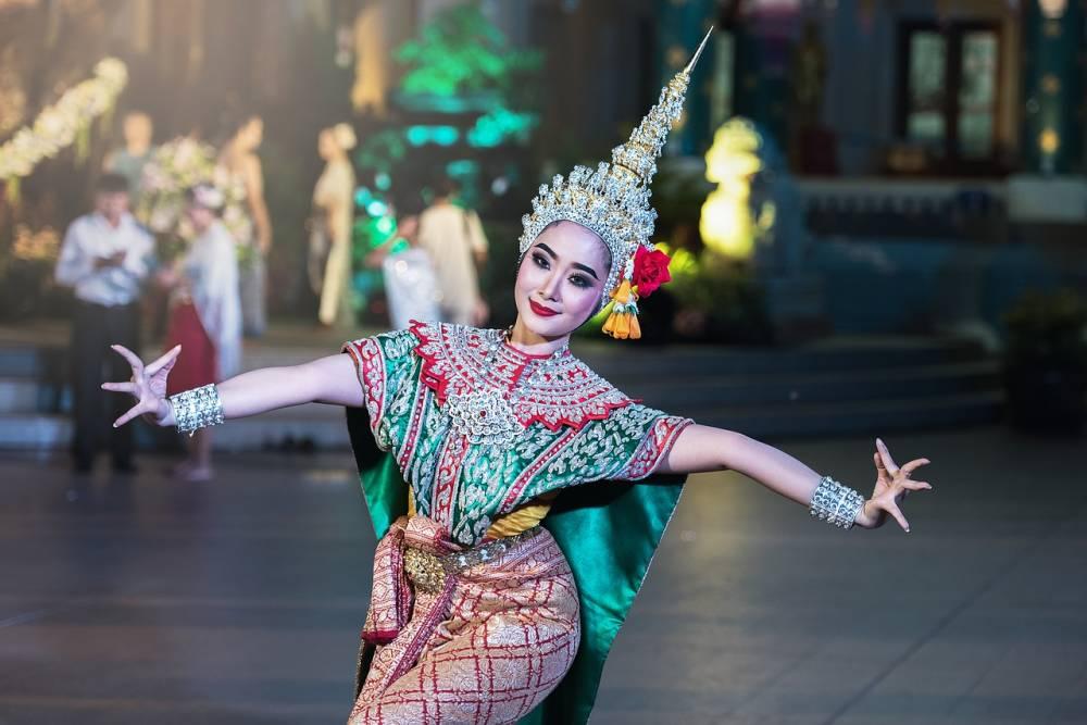 Foto: Thailändische Tempeltänzerin