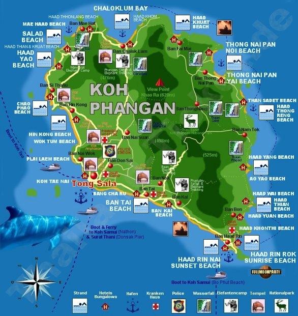 Koh Samui to Koh Tao Map Samui Map · Koh Phangan