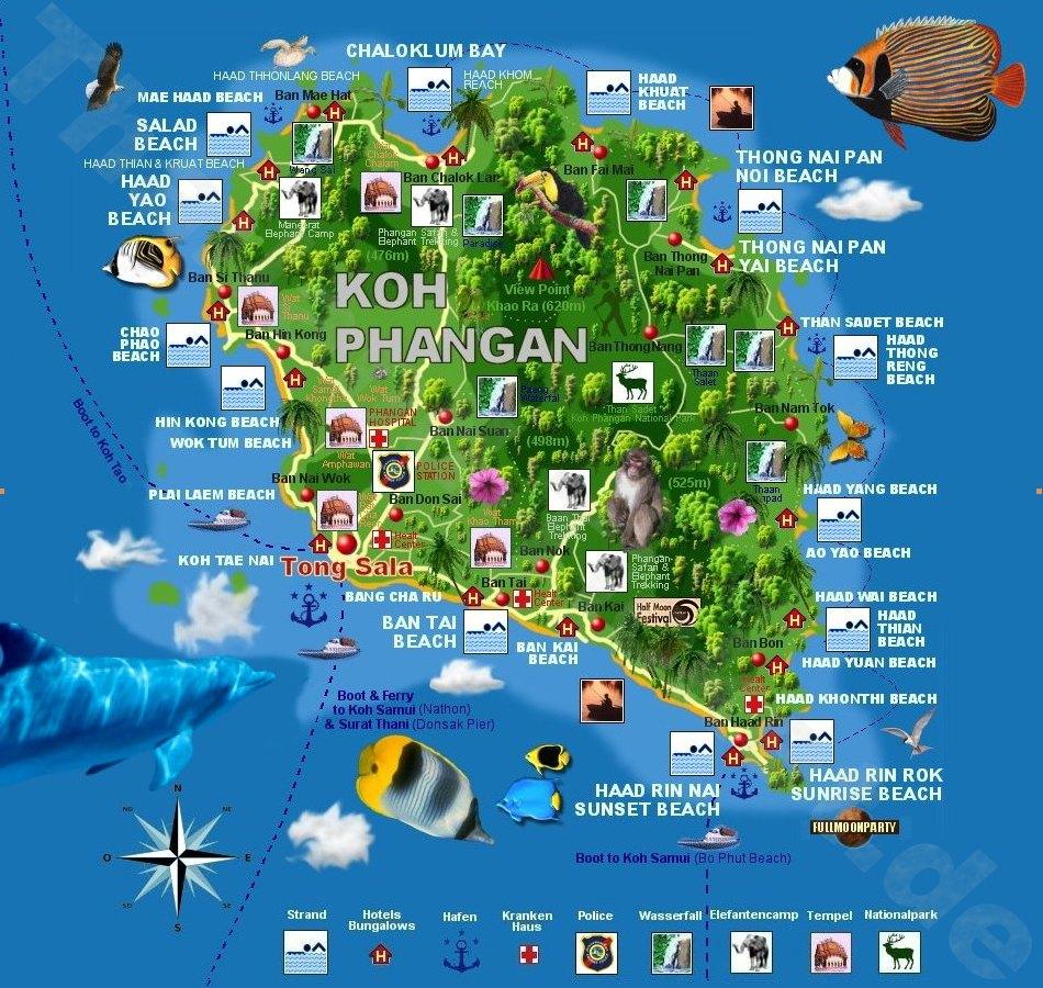 Koh Phangan Reisefuhrer Mit 70 Hotels Bungalows