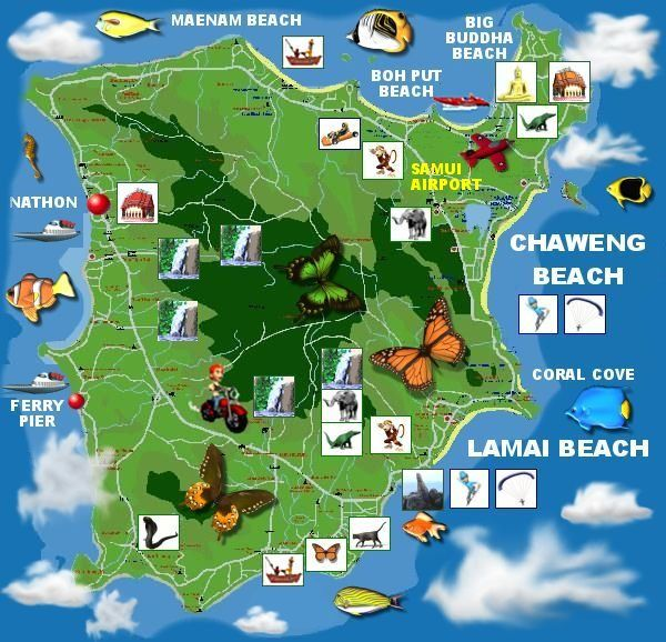 Koh Samui Hotel Map Chaweng Beach