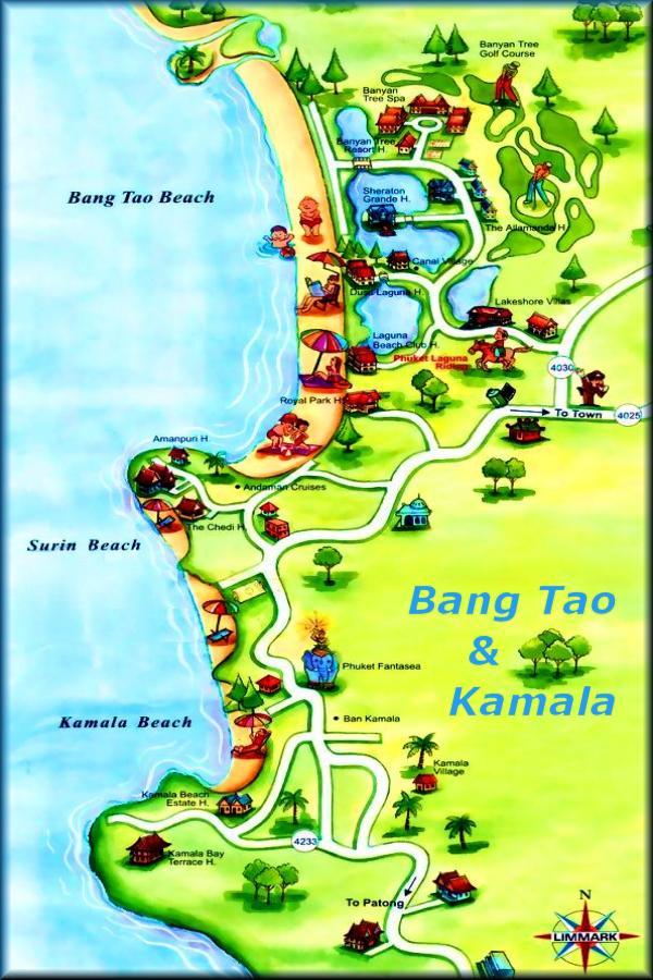 Kata Beach Phuket Hotels Karte
