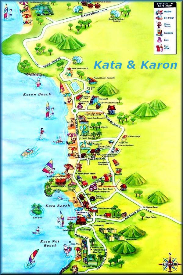 phuket karte Phuket Karten/Maps: Patong Beach Karten,Kata Beach Karte,Kamala Map