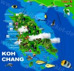 Karte Koh Chang Map