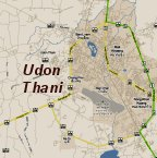 Karte Udon Thani Map (Stadtplan Udorn Thani)