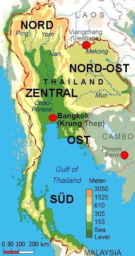 THAILAND KARTE | THAILAND MAP
