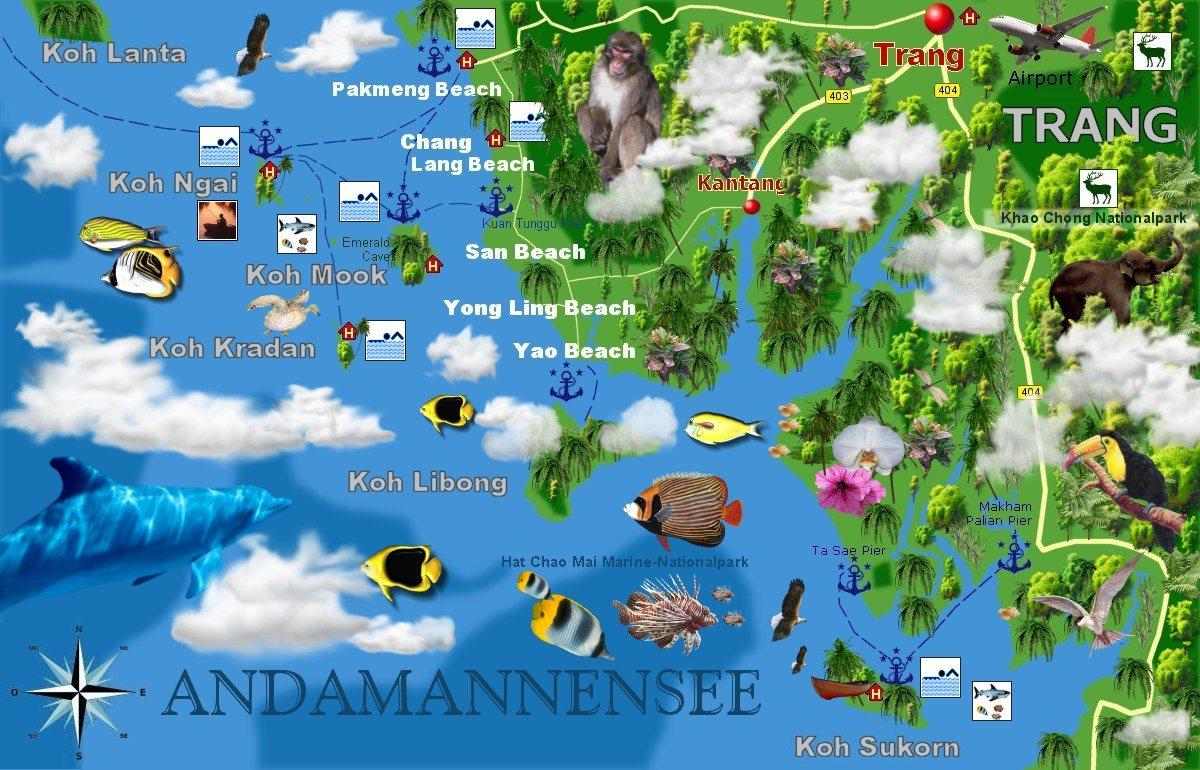 Thailand Inseln Karte.Thailand Tourismus Thailand Karten Landkarten Straßenkarten