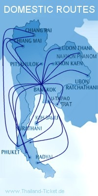 domestic flight routes thailand