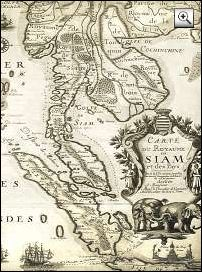 Siam [Thailand] Map anno 1686 - Thailand History