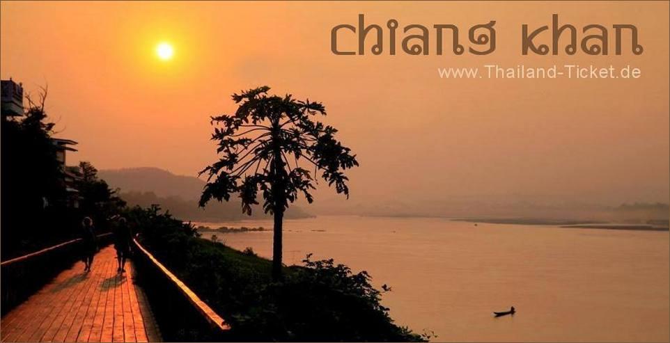 Flussschiff Reise Mekong (Chiang Khan / Thailand)